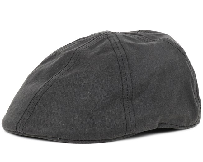 6afb5d7af Texas Waxed Cotton Black Flap Cap - Stetson caps | Hatstore.co.uk