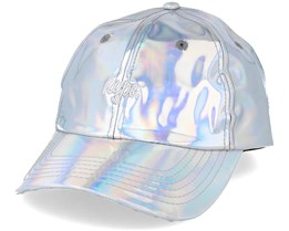 Iridescent Dad Hat Silver Adjustable - Hype