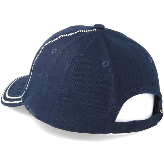 f815a7708eee6 Contrast Stitch Dad Hat Navy White Adjustable - Hype cap - Hatstore.co.in