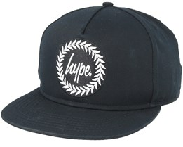 Crest Black Snapback - Hype