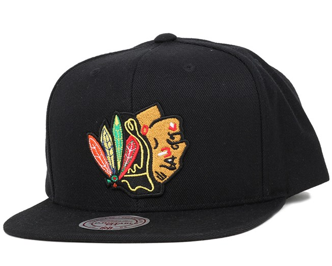 b7ab19706fa Chicago Blackhawks Upside Down Logo Snapback - Mitchell   Ness caps ...