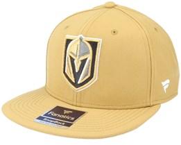 Vegas Golden Knights Primary Logo Core Gold Snapback  - Fanatics