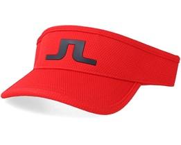 Ian Pro Poly Deep Red Visor - J.Lindeberg