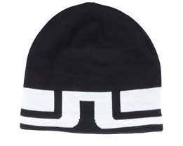 Bridge Stripe Wool Blend Black/White Beanie - J.Lindeberg