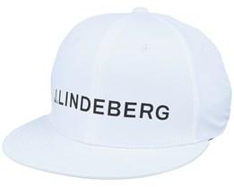 Fulton Micro Poly White Snapback - J.Lindeberg