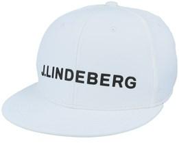 Fulton Cap White Snapback - J.Lindeberg