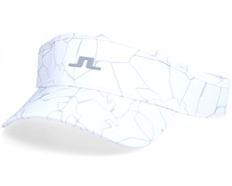 Yaden Golf Print Slit White Visor - J.Lindeberg
