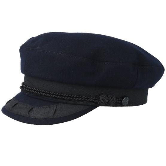 Keps Oscar Wool Dark Marin Flat Cap - CTH Ericson - Svart Flat Caps