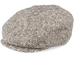 Branson Diagonal Stripe Brown Flat Cap - CTH Ericson
