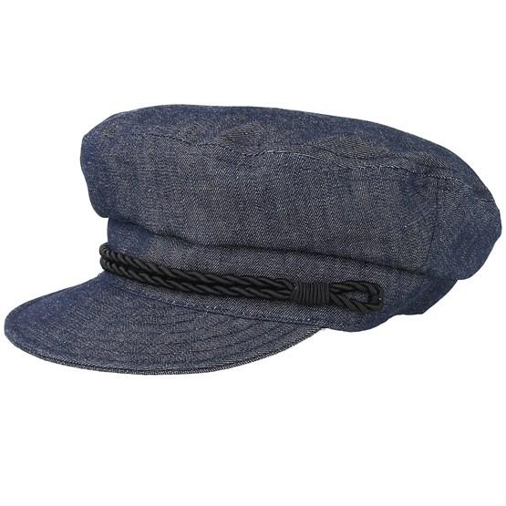 Keps Oscar Sr. Organic Denim Flat Cap - CTH Ericson - Blå Flat Caps