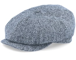 Alan Sr. Harris Tweed Black/Grey Flat Cap - CTH Ericson
