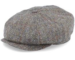Alan Sr. Harris Tweed Green Flat Cap - CTH Ericson
