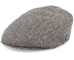 Edward Sr. Harris Tweed Green Flat Cap - CTH Ericson
