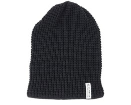 Kids Knitted Black Beanie - Geggamoja
