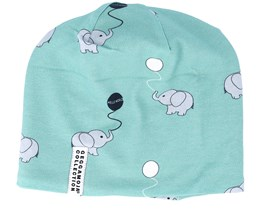 Kids Limited Fleece Hello World Mint Beanie - Geggamoja