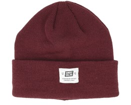 Statton Patch Dark Wine Beanie - Sweet