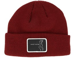 Butter Rhubarb Red Beanie - Sweet