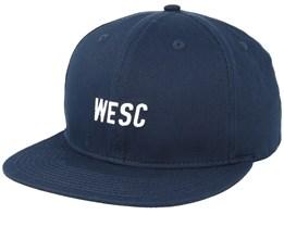 Tilted Logo Navy Blazer Snapback - WeSC