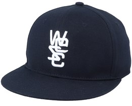 Overlay Fitted Cap Black Fitted - Wesc