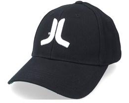 3D Embroidered Logo Stretch Fit Hat Black Flexfit - Wesc
