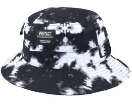 Tie Dye Hat Black/White Bucket - Wesc