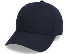 Organic Sport Cap Solid Black Adjustable - Dedicated