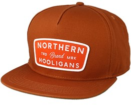 Badge Brown Snapback - Northern Hooligans