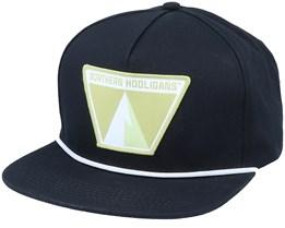 The Single Peak Cap Black Snapback - Northern Hooligans