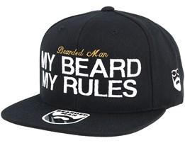 My Beard My Rules Black Snapback - Bearded Man