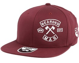 MC Patch Maroon Fitted  - Bearded Man