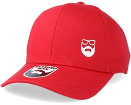Side Logo Red Adjustable - Bearded Man