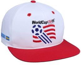 World Cup Logo Sweden White/Red Vintage Snapback - Twins Enterprise