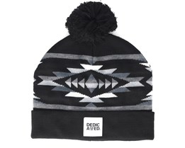 Jacquard Arozona Black Beanie - Dedicated