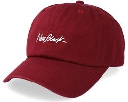 Signature Baseball Cap Plum Adjustable - New Black
