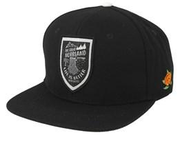 Stock Cap Black Snapback - Sqrtn