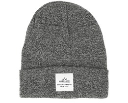 Wood Patch Dark Heather Grey Beanie - Sqrtn