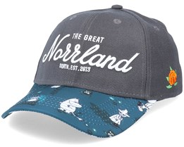 Great Norrland Hooked Mumin Dark Grey Adjustable - SQRTN