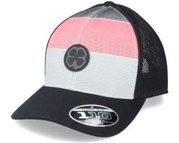 Outline White/Black/Red/Black Trucker - Black Clover