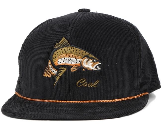 243a47ba0f4 Wilderness Fish Black Snapback - Coal caps - Hatstoreworld.com
