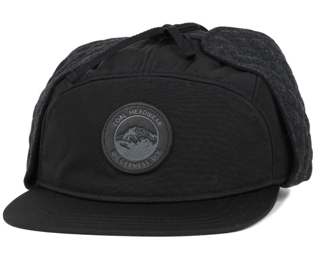 5373702354e Tracker Black 5-Panel - Coal caps - Hatstoreworld.com