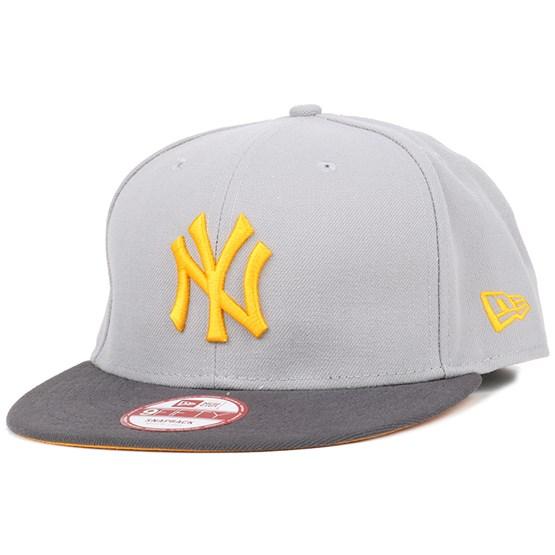 hot sale online 2e8c7 fcc91 NY Yankees Poly Block Grey Gold 9Fifty Snapback - New Era caps -  Hatstoreworld.com