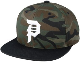 Dirty P Camo/Black Snapback - Primitive Apparel