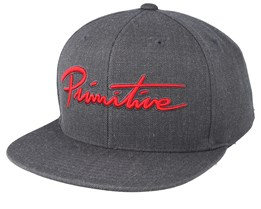 Nuevo Scrip Charcoal Snapback - Primitive Apparel