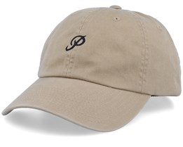 Mini Classic P Dad Hat Khaki Adjustable - Primitive Apparel