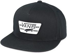 Full Patch True Black Snapback - Vans