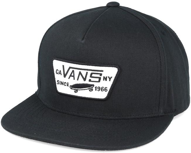 53296f5c Full Patch True Black Snapback - Vans caps | Hatstore.co.uk