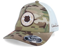 Anniversary Patch Multicam Camo/Khaki 110 Trucker - Black Clover