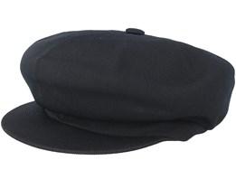 Tropic Spitfire Black Flat Cap - Kangol
