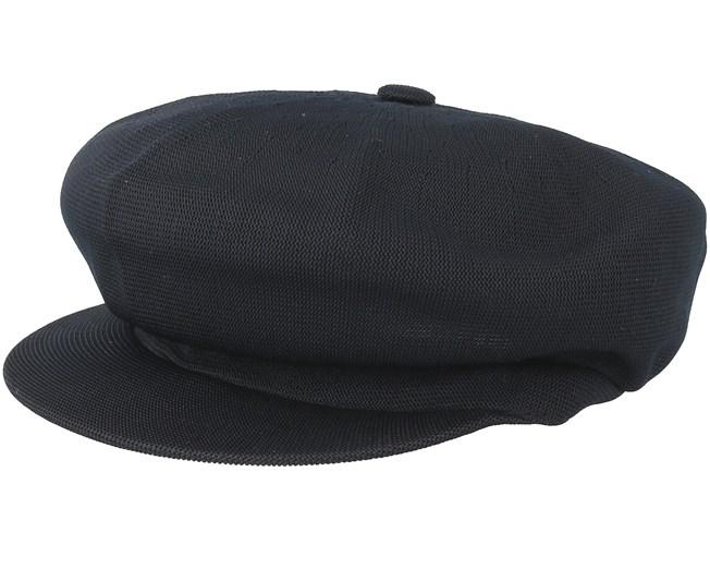b37696e90a9 Tropic Spitfire Black Flat Cap - Kangol caps - Hatstoreworld.com