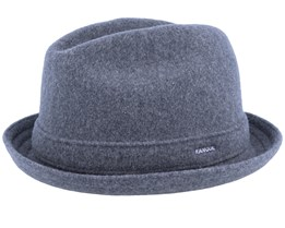 Wool Player Dark Grey Fedora - Kangol